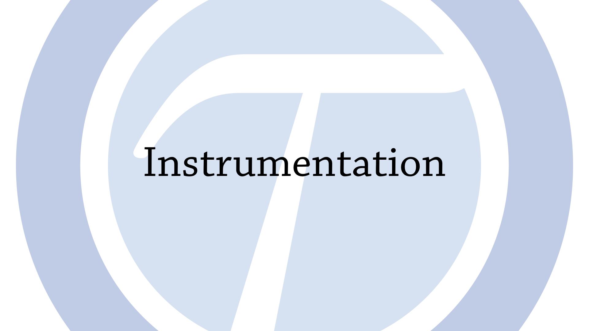 Instrumenation
