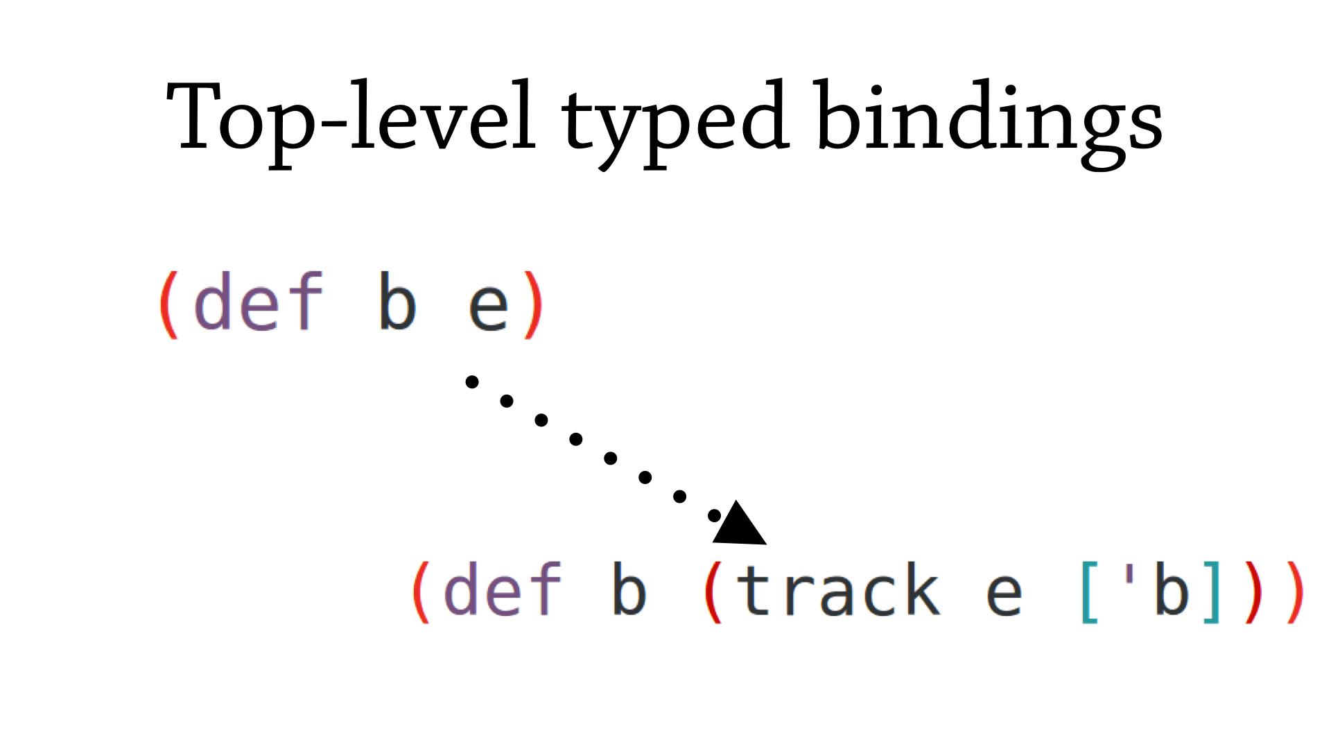 Track top-level binding