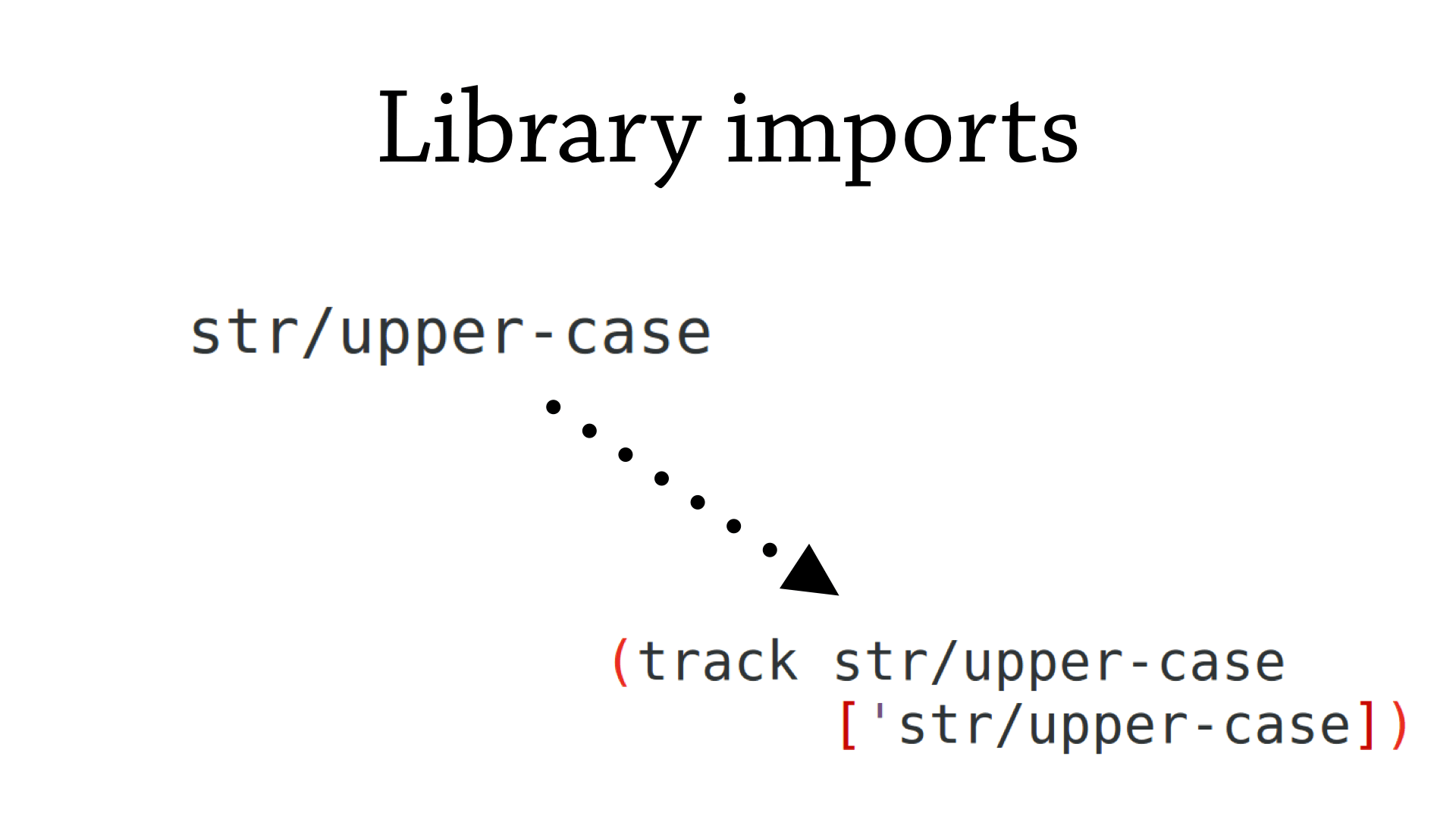 Track library imports