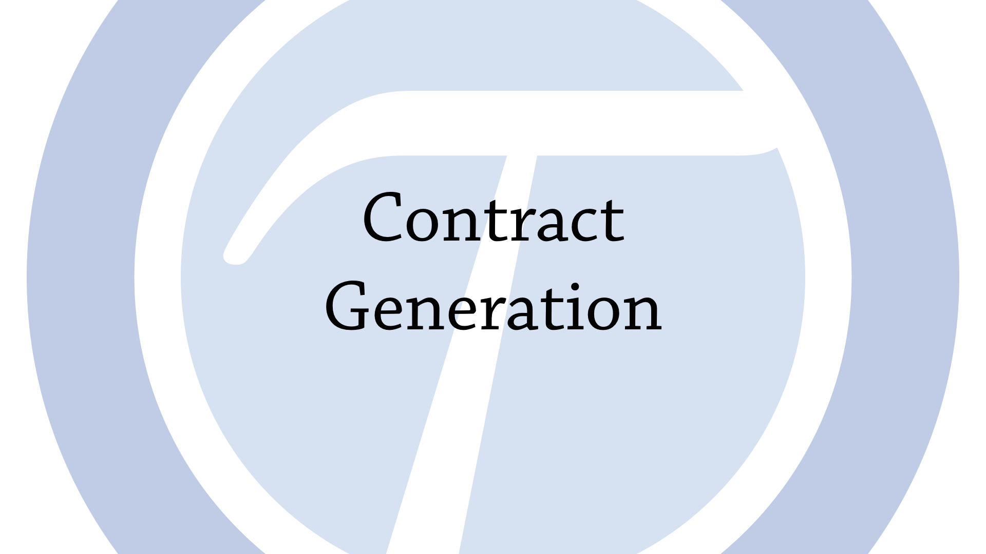 Contract generation